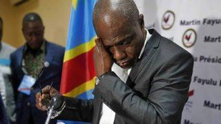 Martin Fayulu pleure